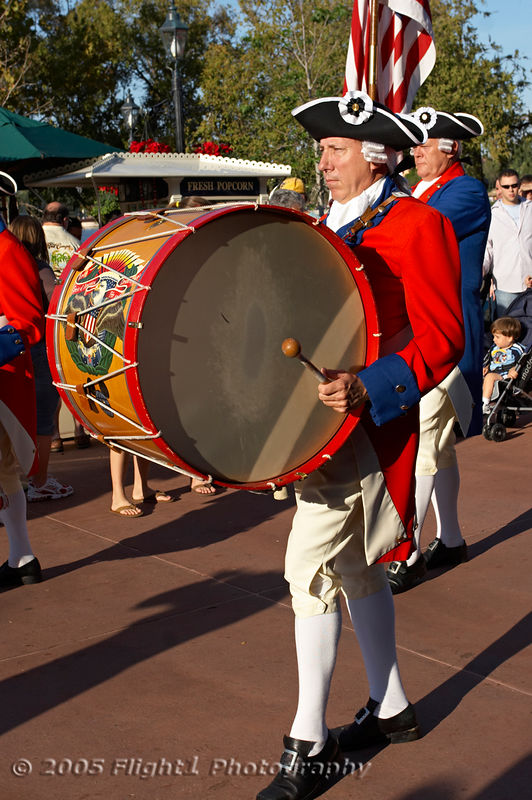 Drummer from the Fife and Drum Corps