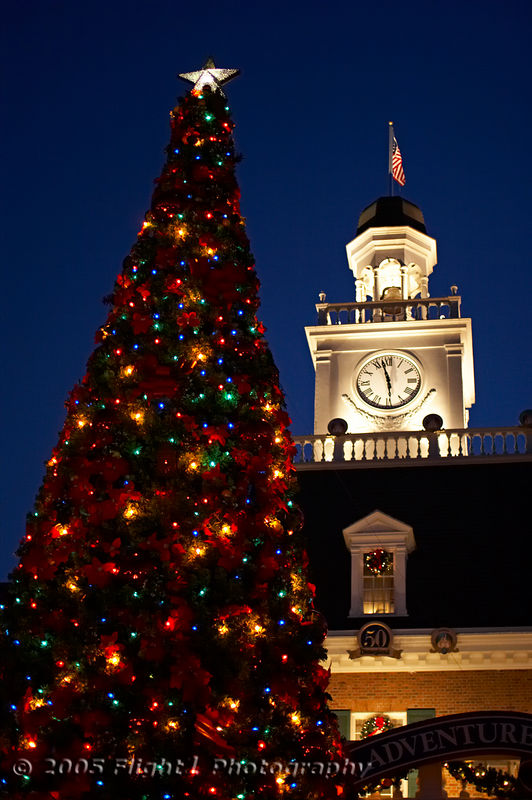 Christmas Tree at Epcot's American Adventure