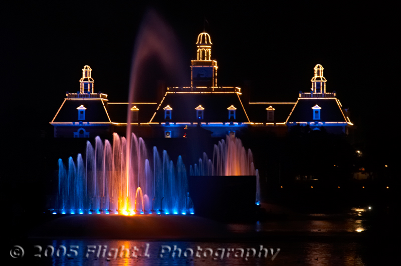 The American Adventure takes part in Illuminations