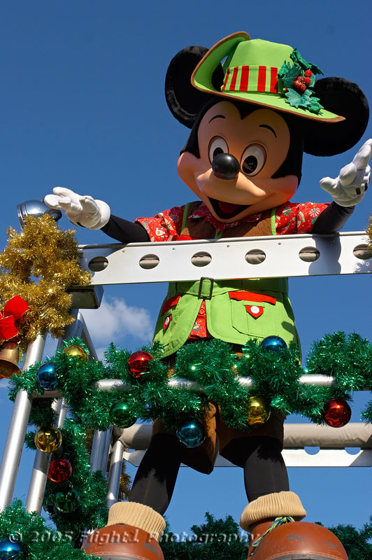 Mickey Mouse in Christmas Safari attire