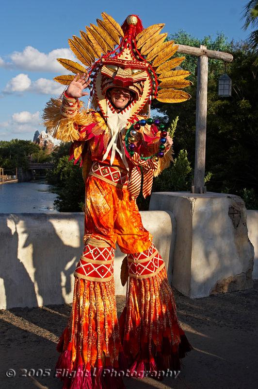A parade dancer in the Jingle Jungle parade