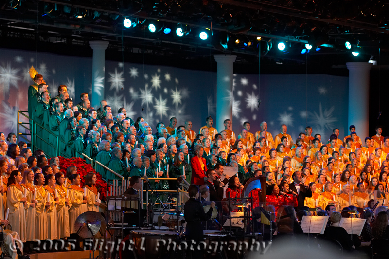 The Candlelight Processional began in 1958 at Disneyland in California