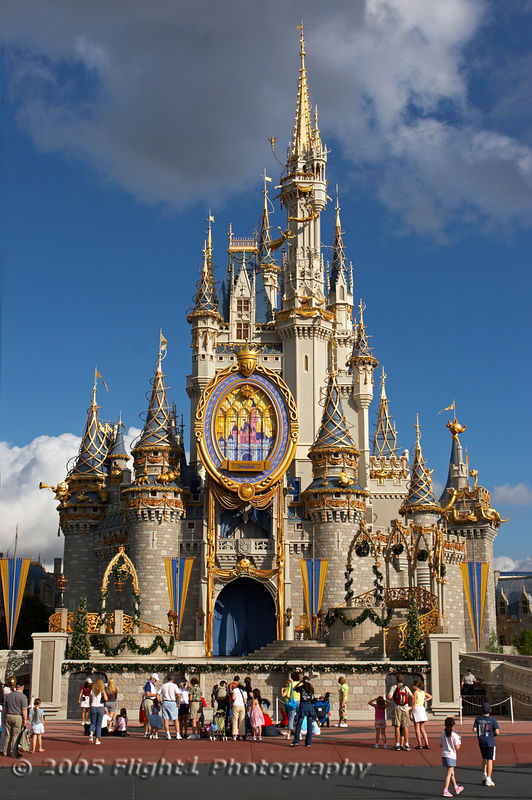 Cinderella's Castle decked out to celebrate 50 years of Disney Theme Parks