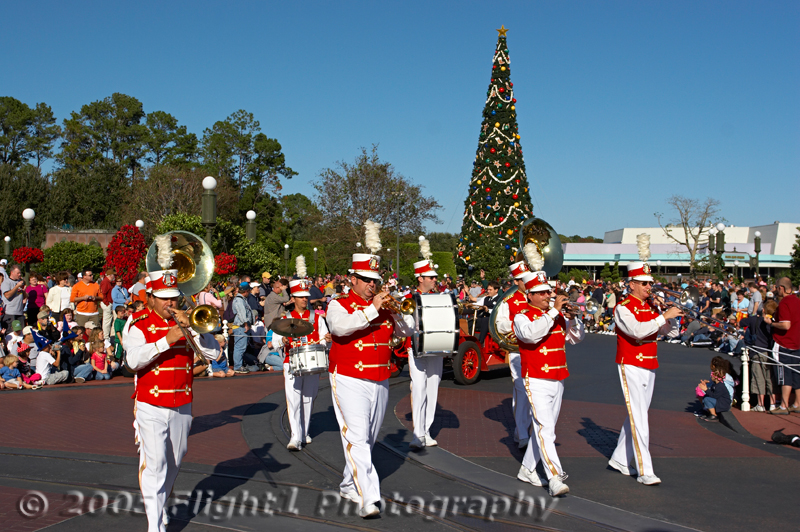 The Disney Band begins the daily parade