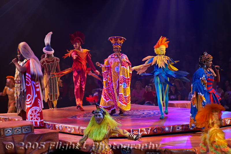 "Singers and Dancers from ""The Festival of the Lion King"""