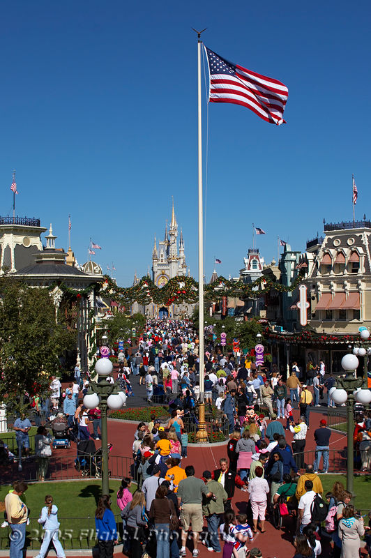 Main Street USA at the Magic Kingdom at Disney World in Orlando