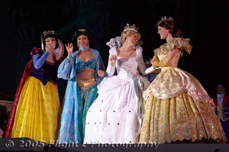 Disney Princesses - Snow White,  Jasmine, Cinderella, Belle