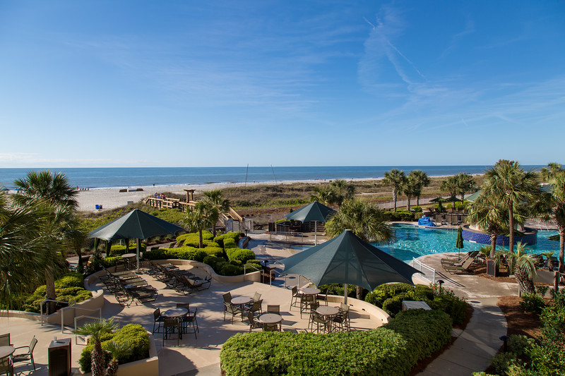 The view from second floor ocean front at Marriott's Barony Beach Club
