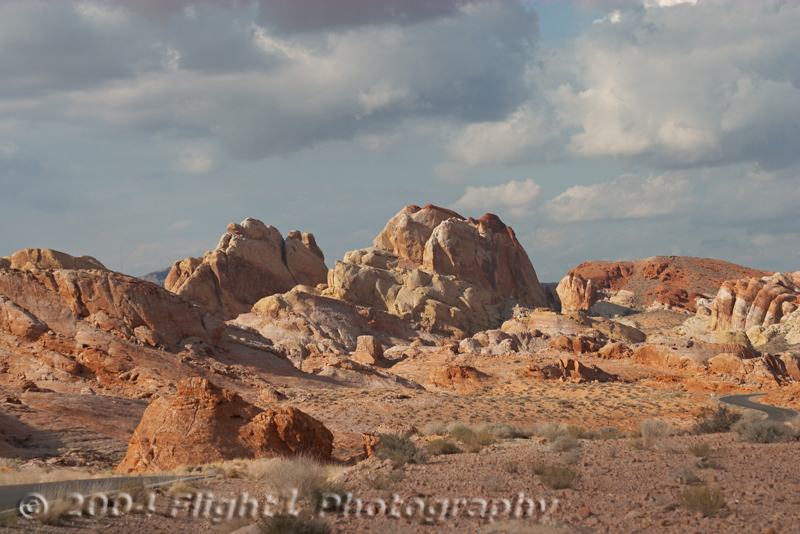 Sandstone formations with brilliant contrasting colors