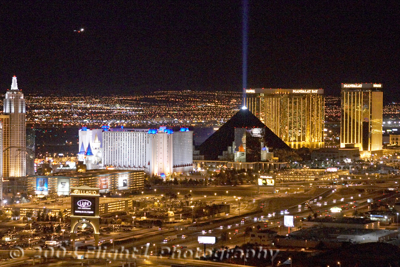 The South Strip - New York-New York, Excalibur, Luxor, and Mandalay Bay