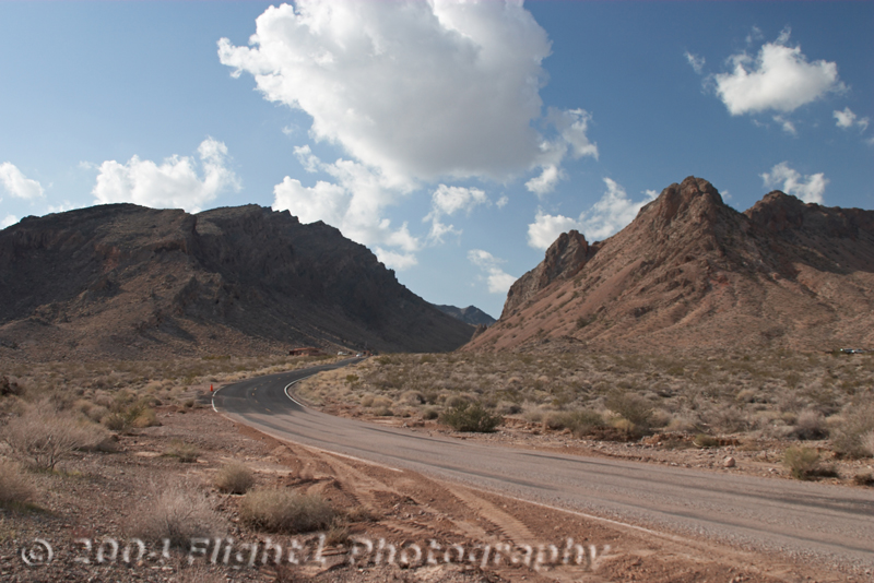 Entering the Valley of Fire State Park north of Las Vegas
