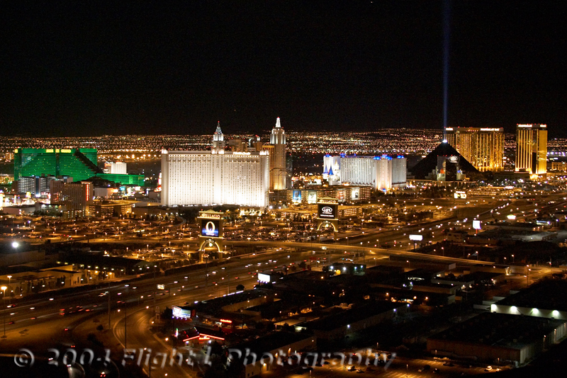The south Strip from MGM to Mandalay Bay