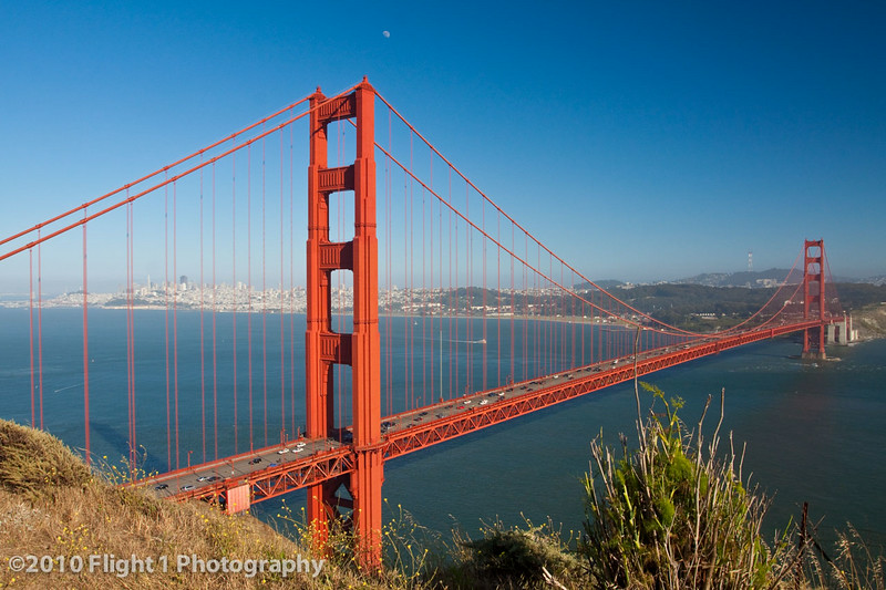 Golden Gate Bridge as seen from the Marin headlands