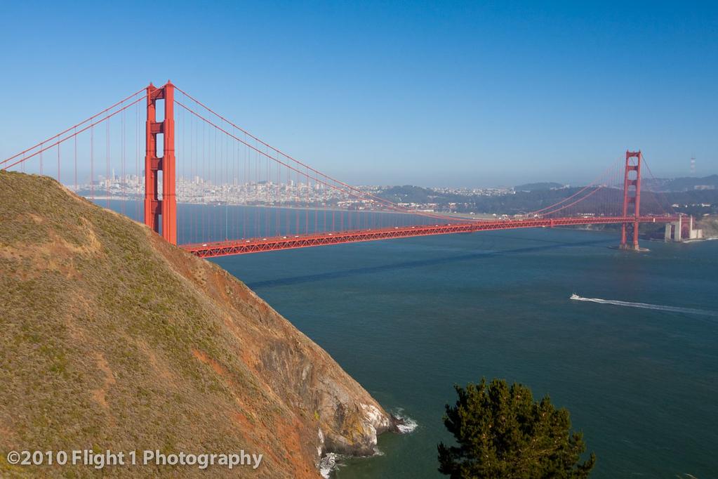 Golden Gate Bridge as seen from the Marin headlands