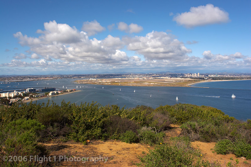 NAS North Island and San Diego Harbor from Cabrillo National Monument