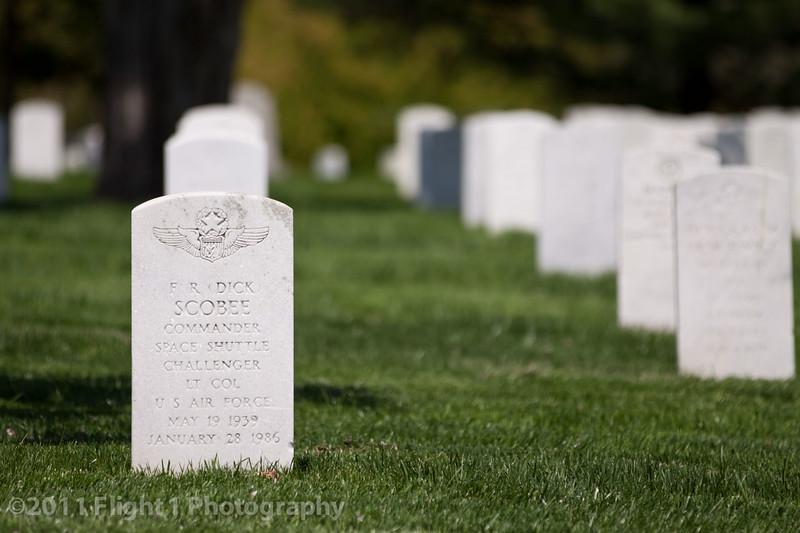Commander Dick Scobee, Space Shuttle Challenger; Arlington National Cemetery