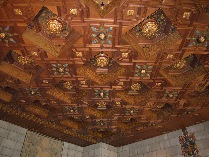 The ceiling of the court room.