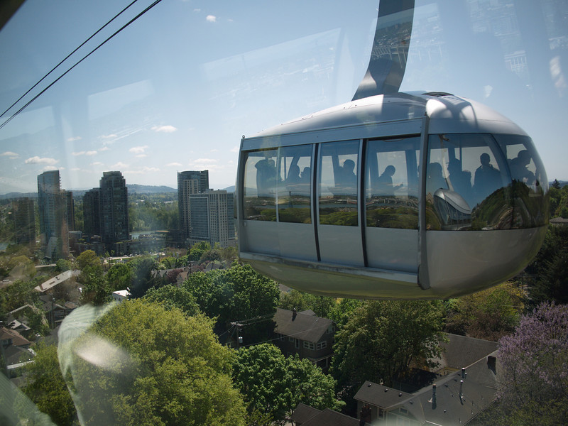 The tram to the medical buildings up the hill.