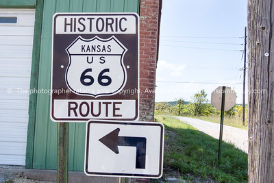 Kansas Historic Route 66 highway sign.