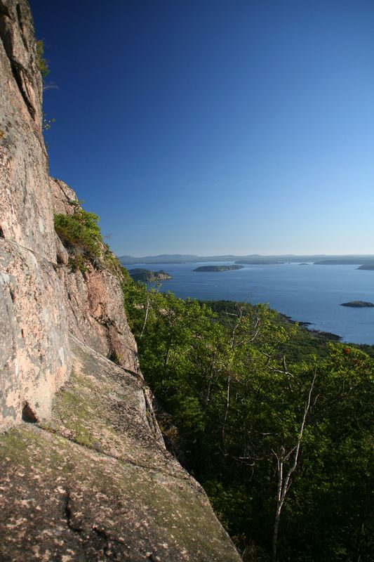 View of the Cranberry Islands from the Precipice trail.