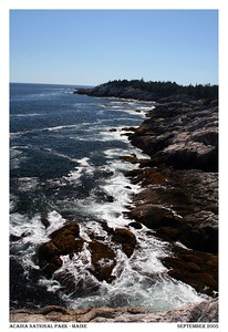 Maine has over 3,500 miles of coastal views.
