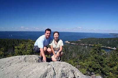 View from Duck Harbor Mountain on Isle au Haut (Part of Acadia National Park).