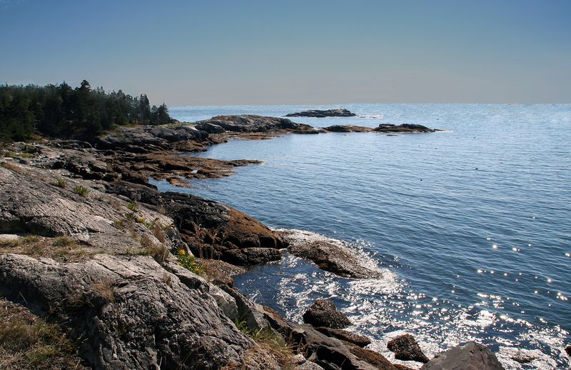 Isle au Haut lies about seven miles off the Maine coast in Penobscot Bay.