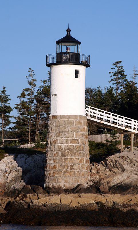Lighthouse at Robinson Point, Isle au Haut.