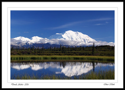 """Mount McKinley Sunset Reflection"""