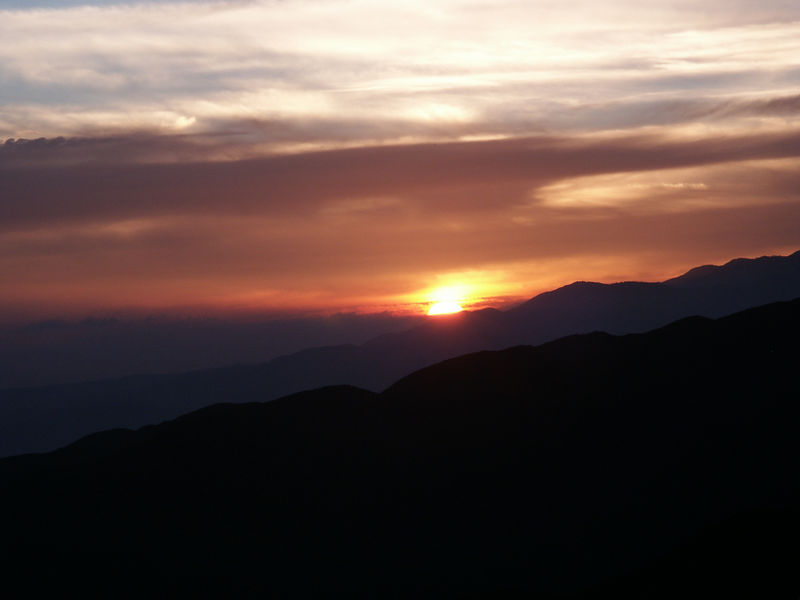 Sunset at Keys View.