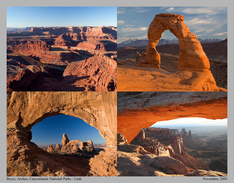 This photo montage depicts the beauty of Southern Utah National Parks. Sunrises and sunsets are not to be missed.
