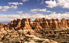 The Needles District forms the southeast corner of Canyonlands and was named for the colorful spires of Cedar Mesa Sandstone that dominate the area.