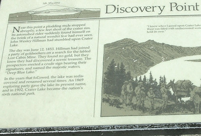 The plaque  at Discovery Point.