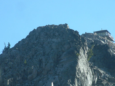 The top of The Watchman where there is a lookout tower.