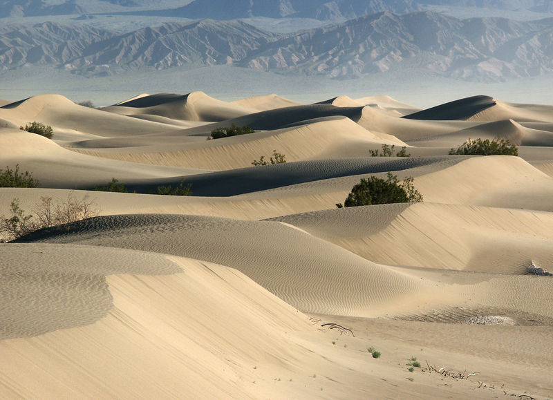 Stovepipe Wells and Mesquite Sand Dunes.