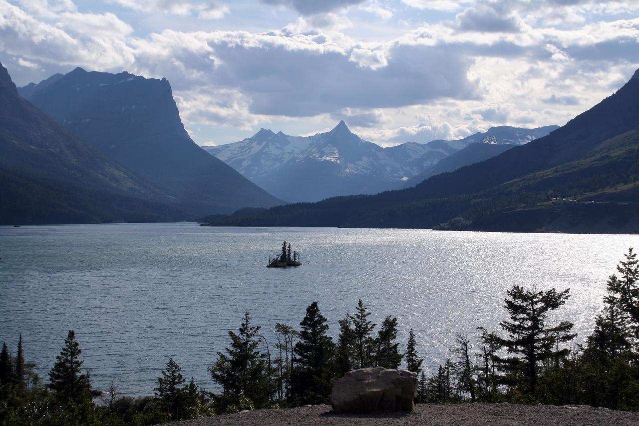 Wild Goose Island on Saint Mary's Lake