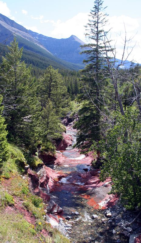 Red Rock Canyon near Waterton.