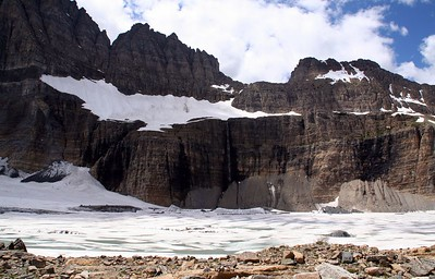 Salamander Glacier and Upper Grinnell lake.