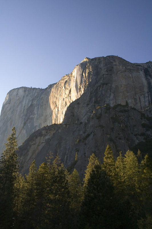 The horsetail waterfall drains a very small area on top of El Capitan, probably less then a square mile.
