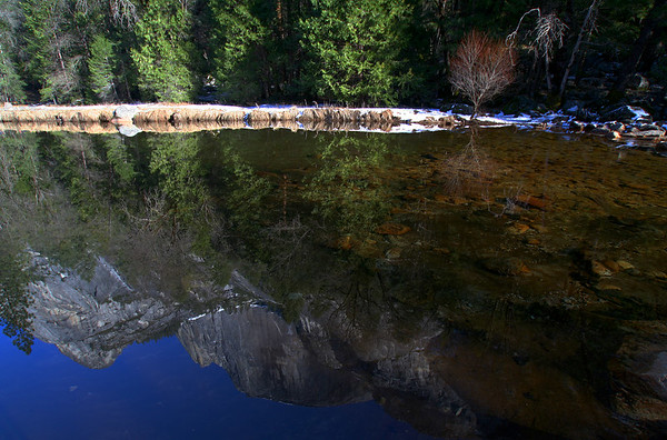 February 2006: Mirror Lake with Half Dome reflection.