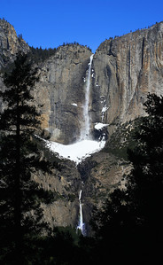 February 2006: Upper and Lower Yosemite Falls. View from 4 mile hike.
