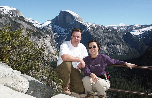 January 2005: View point on Upper Yosemite Fall hike.