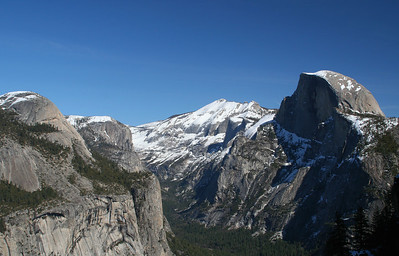 February 2006: Half Dome. View from 4 mile hike.