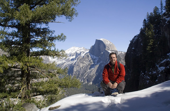February 2006: Self portrait in front of Half Dome.