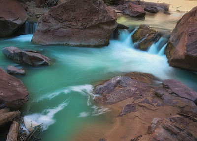Virgin River Rapids.  Zion NP