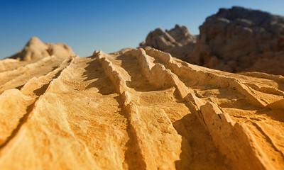 Sandstone fins, Valle de Fuego, Parque del estado de Nevada