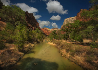 View from bridge to Emerald Pools, Zion NP