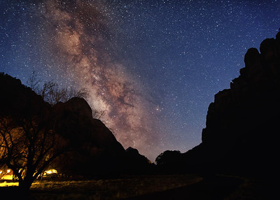 Milky Way over Zion Lodge