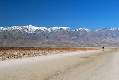 Salt Flats 282' below sea level.