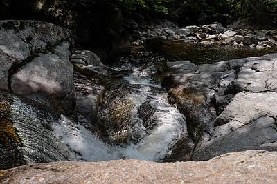 Hiking the Cascade Brook Trail - Franconia Notch, NH.